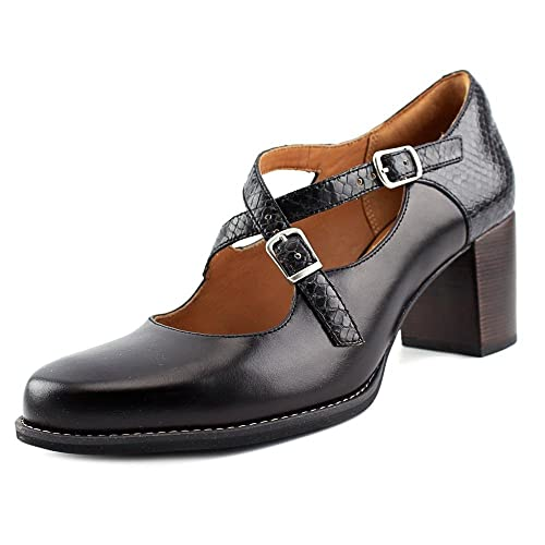 Para Negro Clarks Piel Tarah Mujer Zapatos Vestir Presley De xx4wY8