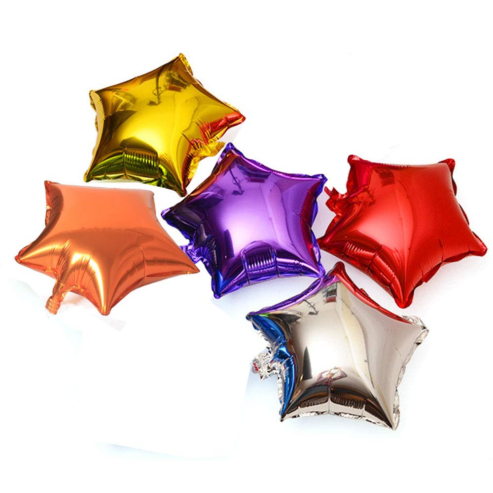 Mylar Balloons of 5 Colors 18 Inch Foil Balloons for Birthday Party,Class Party,Family Gathering,Graduation Ceremony Decorations