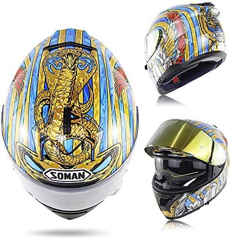 プノンペンECE/DOT標準のフルフェイスヘルメットと反射男性と女性の二重レンズのpythonフルヘルメットレーシング新成人のヘルメット