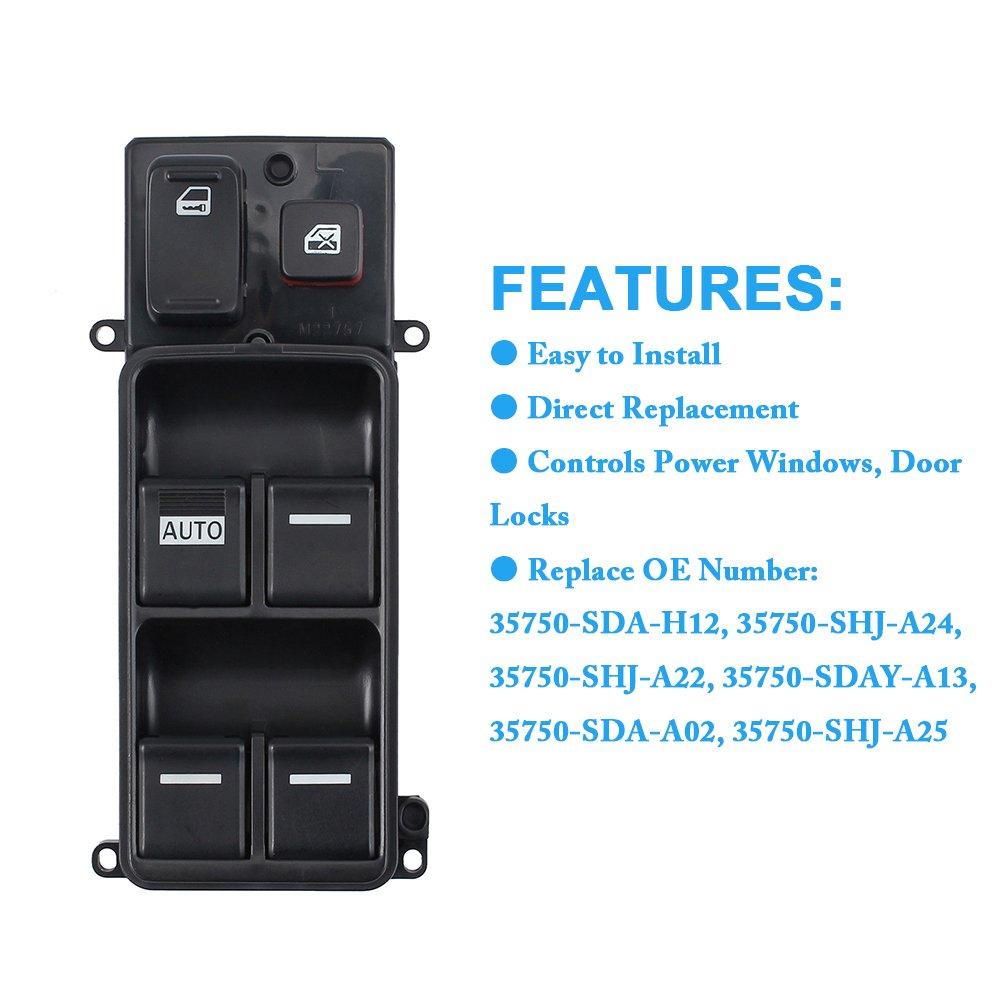 35750-SDA-A14 Genuine Honda Power Window Master Switch Assembly