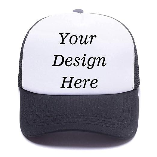 35158cfe0ed71 Two Tone Blank Trucker Hat Mesh Cap Custom Unisex Classic Plain Baseball Cap  Adjustable Snapback Strap