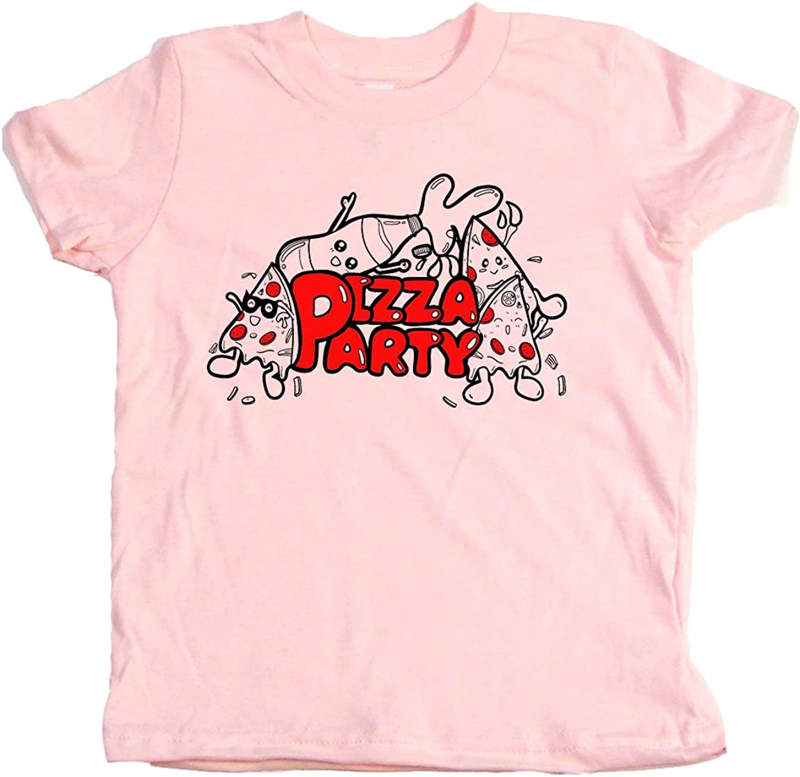 Retro Cool Baby Gift Pizza Party Retro Cool Toddler Clothes Cute Boy Or Girl T-Shirts