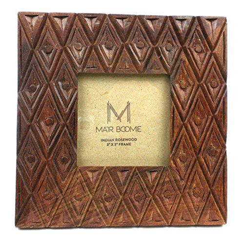 Matr Boomie (P) Indian Palace Rosewood Frame for 3X3 Photo ()