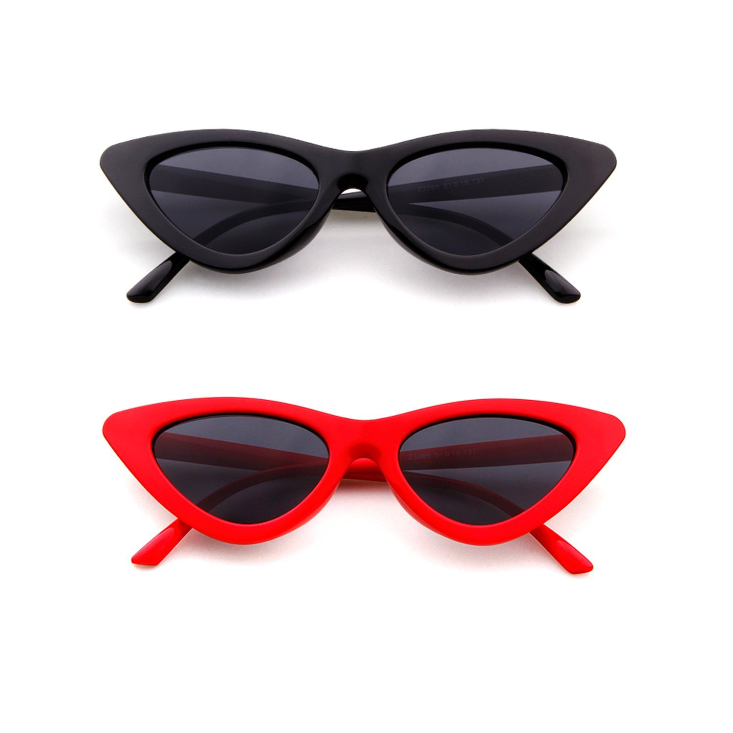 80529a903c ☀️FASHIONABLE DESIGN▻Retro 1990 s cat eye sunglasses featuring an  exaggerated cat eye silhouette with a slim design. Complete with neutral  colored ...