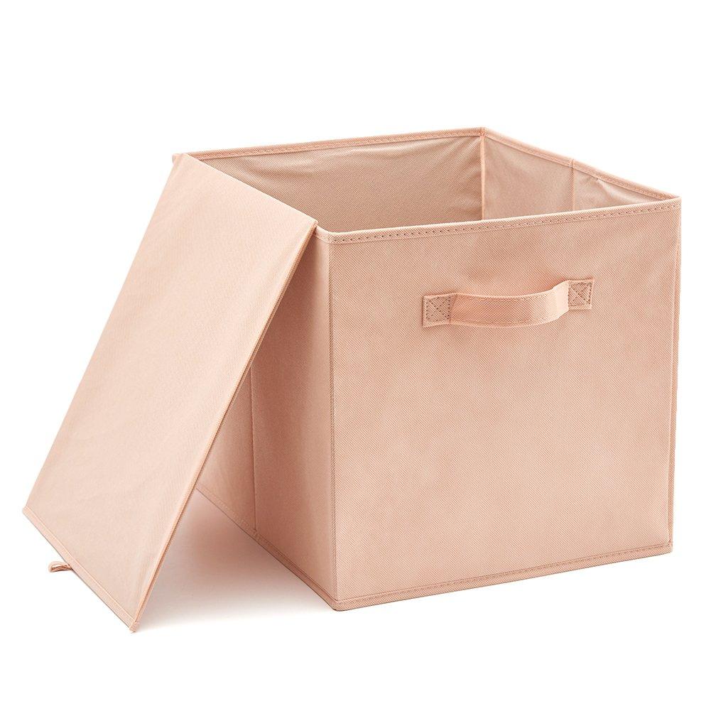 Pack of 4 White Toys Shelf Nursery EZOWare Storage Bins Foldable Organiser Cube Basket Box for Laundry