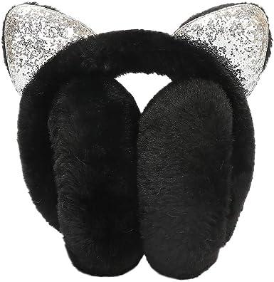 Star Print Winter Cat Earmuffs Fur Warm Women Protect Faux Fluffy Earcap one