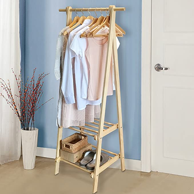 Amazon.com: GWDJ Coat Rack Solid Wood Simple Coat Rack ...