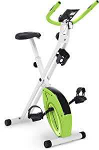 Marcy Foldable Upright Exercise Bike with Adjustable Resistance for Cardio Workout & Strength Training - Multiple Color Available