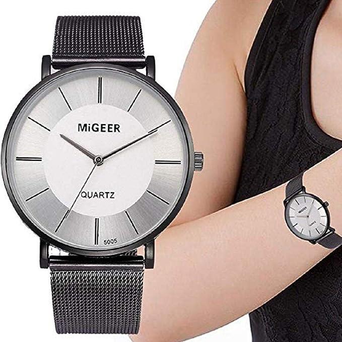 Scpink Relojes de Cuarzo para Mujeres, Relojes de Damas, Relojes Femeninos de liquidación, Reloj analógico de Regalo de Acero Inoxidable.