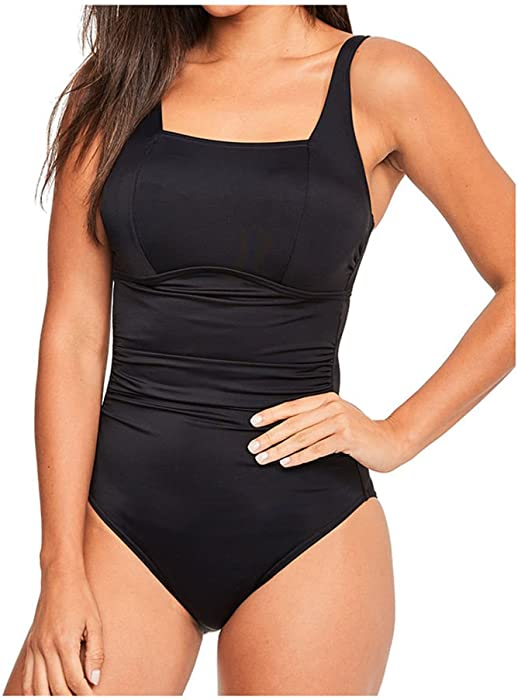 High Quality Figleaves Womens Rene One Piece Bathing Suit D GG Cup Size 32GG In Black