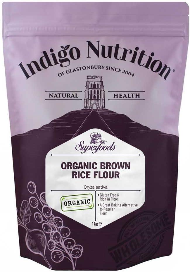 Harina ecológica de arroz integral INDIGO NUTRITION (1 kg)