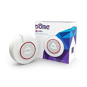 Amazon.com: Dome sirena (Z-Wave Plus, inalámbrica, Batería ...