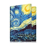 Fintie Passport Holder Travel Wallet - Premium Vegan Leather RFID Blocking Case Cover - Securely Holds Passport, Business Cards, Credit Cards, Boarding Passes, Starry Night