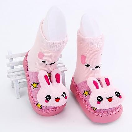 Bebedou rosa conejo dibujos animados Calcetines 6 A 12 meses bebé bebés Niños Cómodo Calcetines de