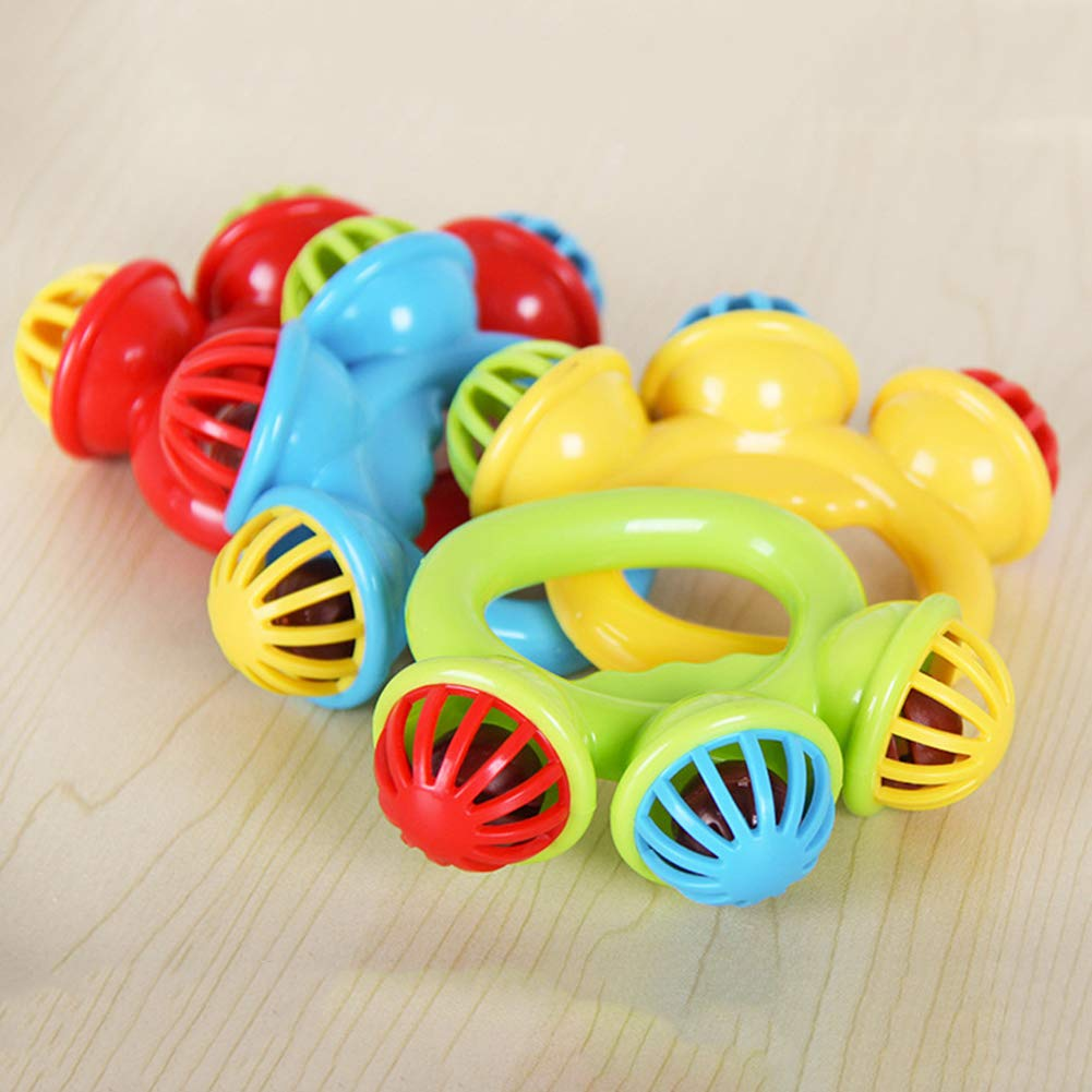 Jiecikou Baby Rattle Toys Hand Shaking Bell Developmental Musical Toys Xmas Random Color