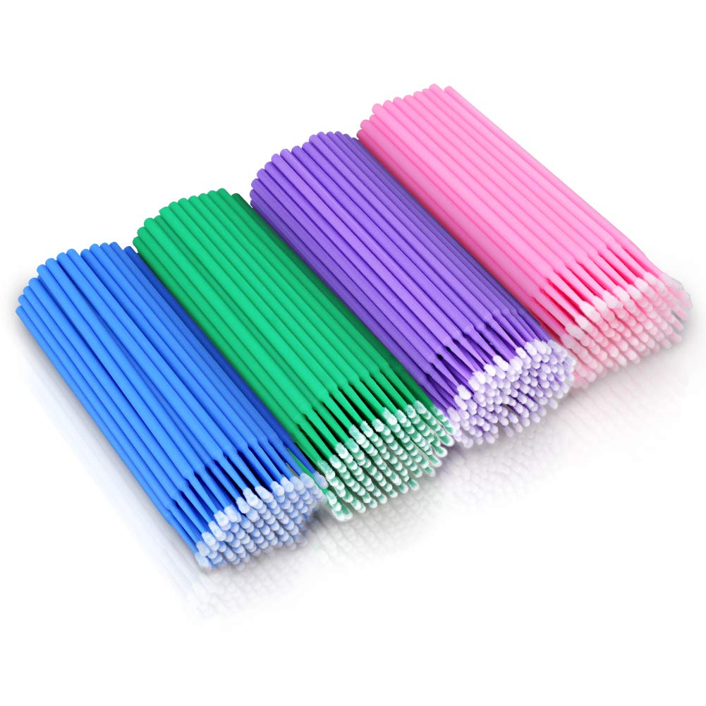 400PCS Disposable Micro Applicators Brush for Makeup and Personal Care
