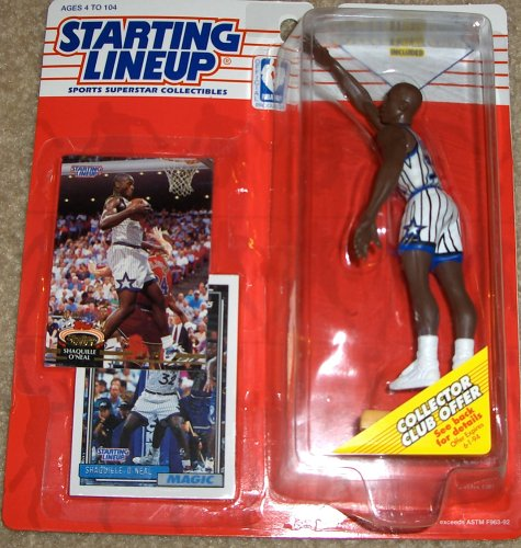 1993 Shaquille O'Neal Orlando Magic Kenner SLU Starting Lineup NBA Basketball figure - Rookie piece