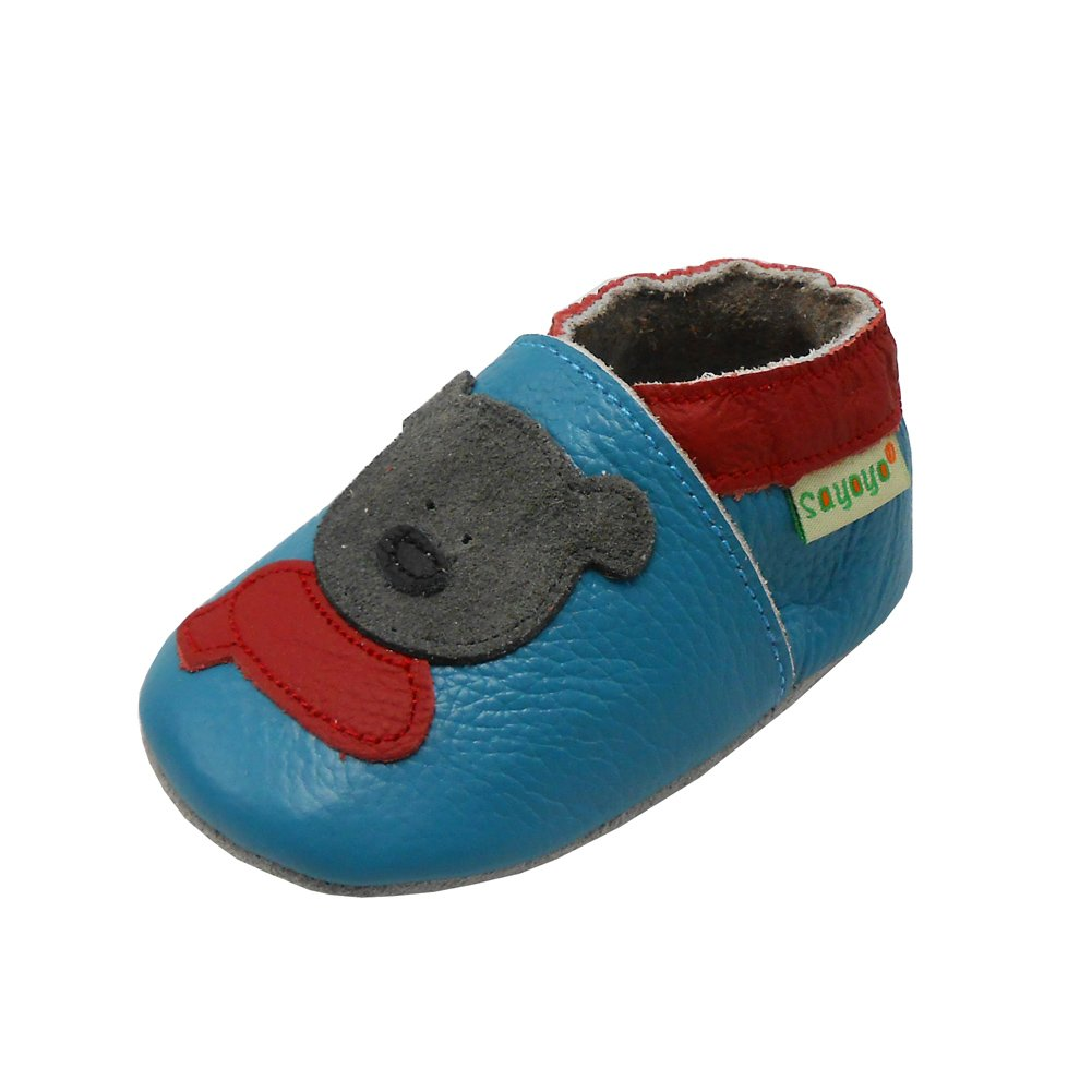 Sayoyo Baby Cute Bear Soft Sole Leather Baby Shoes Baby Moccasins 1001