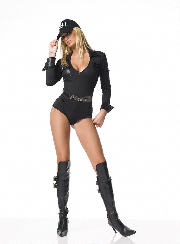 Leg Avenue – 3 de teiler FBI de disfraz, Cap, traje, cinturón – XL ...