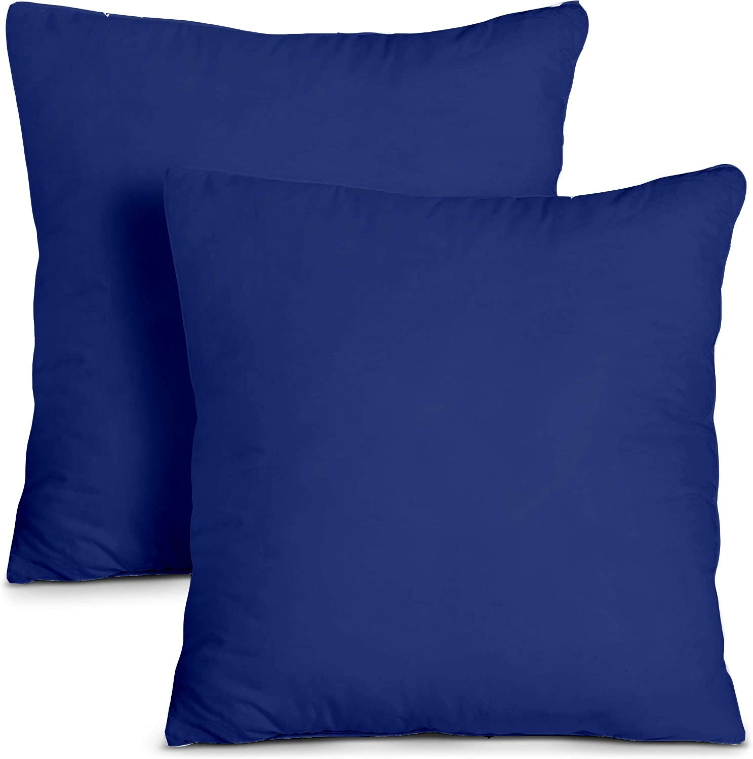 Set of 2 Black United Homes Luxurious 1000 Thread Count Pillow Cover with Zipper Closer, Baby Sized 12 by 16 inch Pillow Sham 100/% Cotton