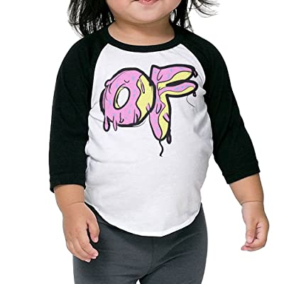Patrick Boys and Girls Odd Future OFWGKTA 3/4 Sleeve Raglan Baseball Tshirt Black
