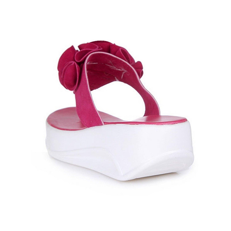 Willie Marlow Women Flip Flops Flower Sandals Beach Slippers Wedges Casual Platform Shoes xing se 6