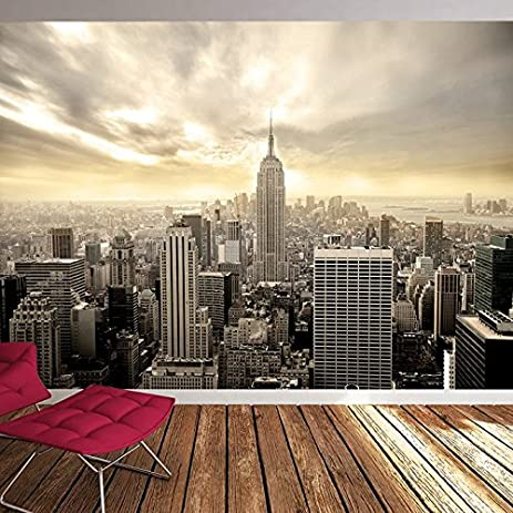 Amazoncom Manhattan Skyscrapers New York USA Skyline Wall Mural