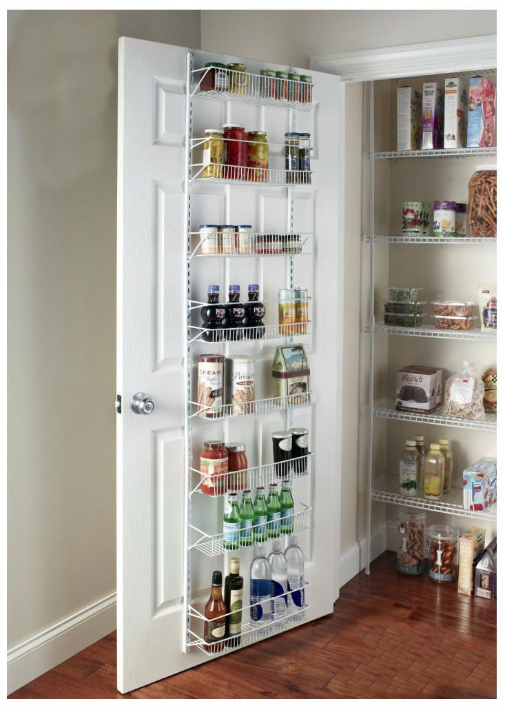 Door Spice Wall Mount Storage Kitchen Shelf Pantry Holder Rack Cabinet Organizer