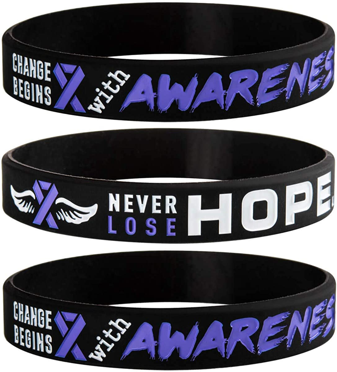 Teal and Purple Women Unisex Accessories Men Awareness Bracelet Mental Health Awareness- Survivor Gift Bracelet