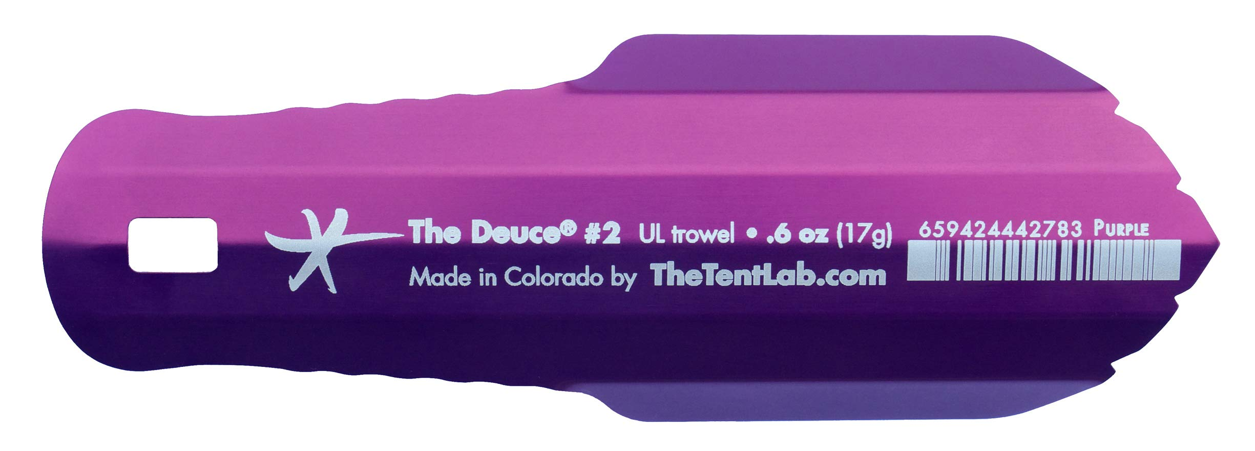 TheTentLab New Improved Deuce(R) Ultralight Backpacking Potty Trowel - Now in 3 Sizes (madeinUS-Purple, 2)