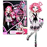 """Mattel Year 2011 Monster High """"Sweet 1600"""" Series 10 Inch Doll - C.A. Cupid """"Daughter of Eros"""" with Love-Shaped Purse and Doll Stand (X3799)"""