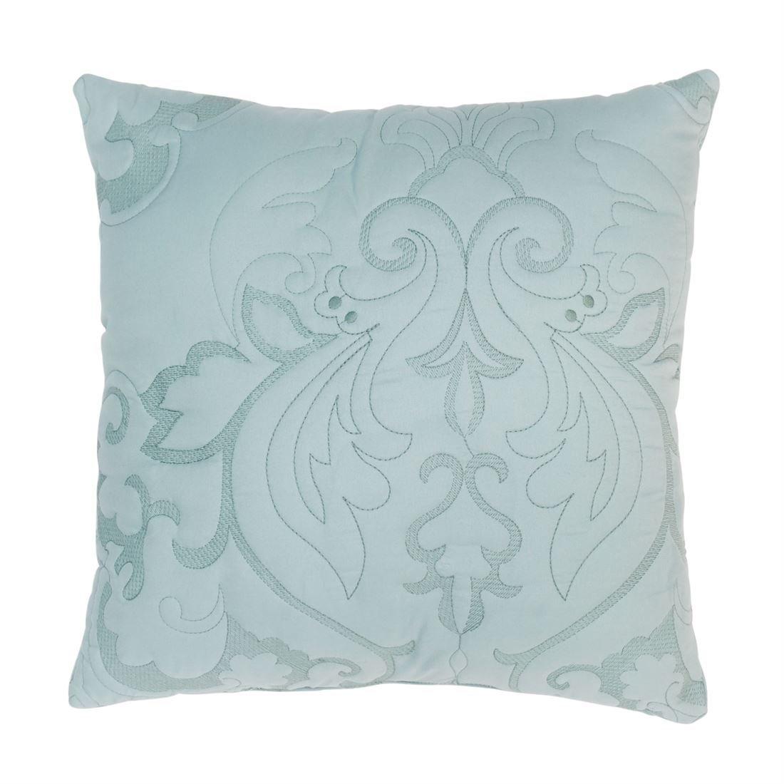 BrylaneHome Amelia 16'' Square Pillow (Seaglass,0)