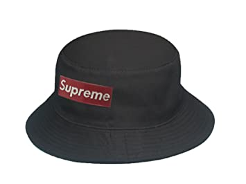 Supreme Iron Logo Bucket Hat (Black)  Amazon.co.uk  Sports   Outdoors 8e9ecd56405
