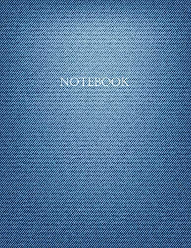 Notebook: Dot Grid Bullet Journal - Large (8.5x11 inch) with 123 Numbered Pages - Soft Matte Cover - Blue Denim ()