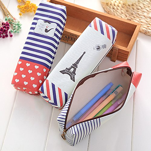 Students Stationery Creative Canvas Pencil Bag Pencil Case Pencil Box Student Storage Stationery Supplies by Office & School Supplies YingYing (Image #1)