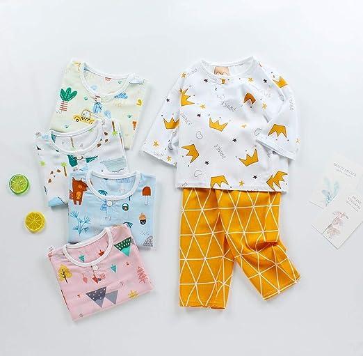 DEBAIJIA Baby Hauskleidung 2-12T Kleinkind Heimanzug Kinder Schlafanz/üge S/äugling Pyjama Junge Nachtw/äsche Unisex M/ädchen Flanell
