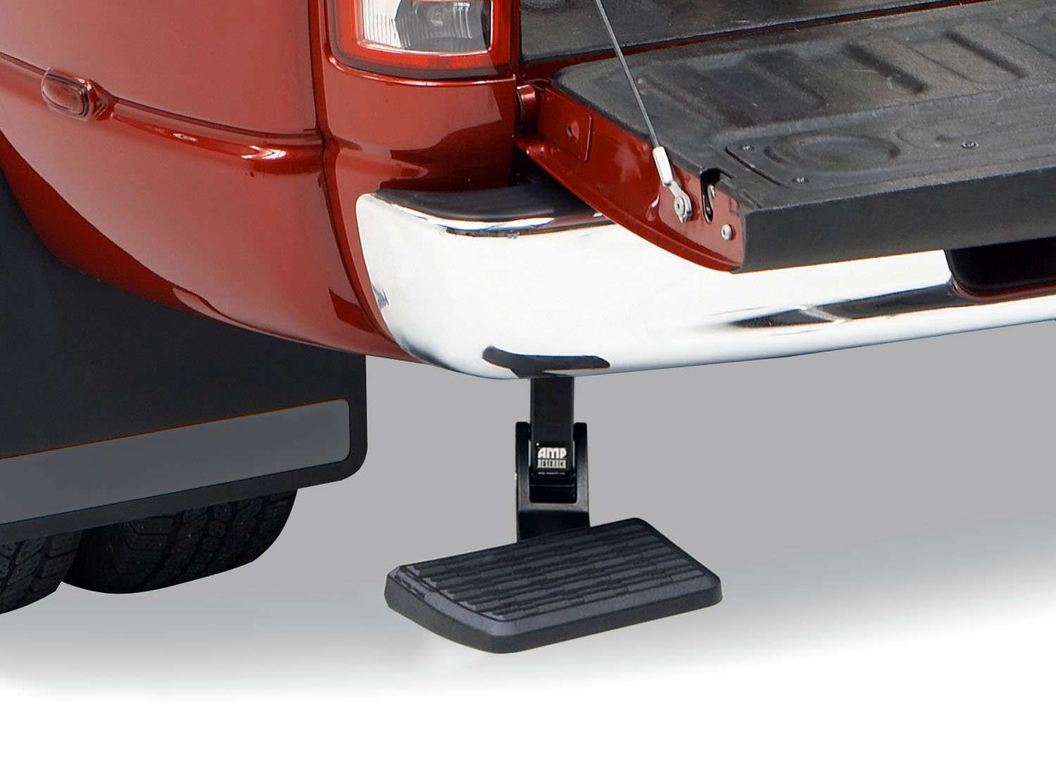 AMP Research 75306-01A BedStep Retractable Bumper Step for 2009-2018 Ram 1500, 2010-2018 Ram 2500/3500 (Excludes Dual Exhaust & EcoDiesel Models) by AMP Research