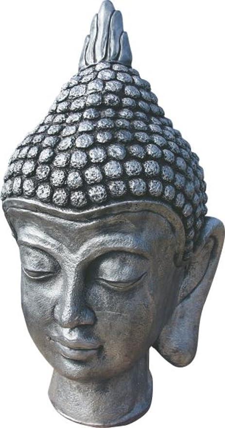 AnaParra Figura Buda Sinceridad para el jardín Decorativa 56cm. hormigón-Piedra Plateado: Amazon.es: Jardín