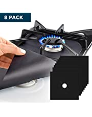 8 Pack Reusable Gas Stove Burner Covers || Non-stick Stovetop Burner Liners Gas