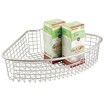 Drahtkörbe für küchenschränke  mDesign Heim Küche Lazy Susan Drahtkorb mit Griff für ...