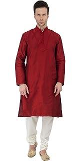 93e04a9d842 Indian Long Sleeve Button Down Shirt Kurta Pajama Ethnic Mens Traditional  Casual Wear Kurta Pyjama -
