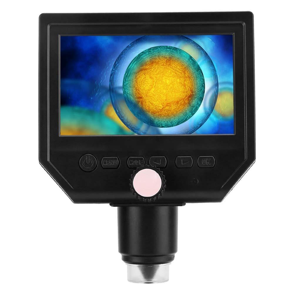 HD 1080P 4.3 600x Magnifier Camera Digital Soldering electronic Microscope US screw locking