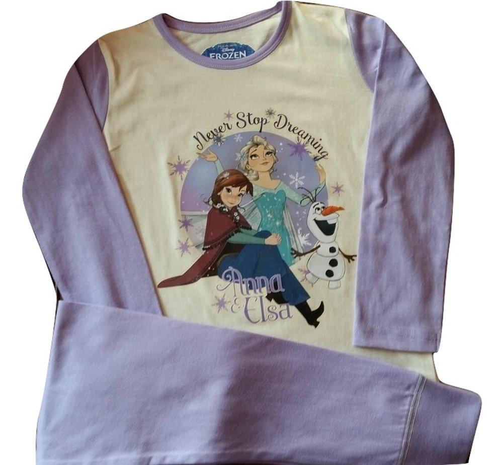 Disney Kids Girls Boys Official Frozen Queen Elsa Anna Pyjamas Childrens 2 Piece Set PJ's Long Sleeves 100% Cotton Size 1-12 Years