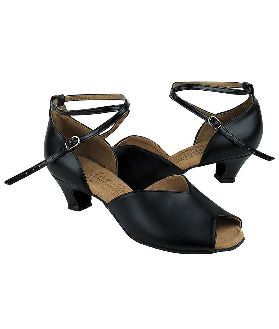 Very Fine Ballroom Latin Tango Salsa Dance Shoes for Women S2801 1.2 Inch Heel Foldable Brush Bundle
