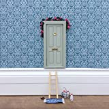 tinkerbell tree house - Fairy Door - Magical Little World's Best Sage Green Fairy Door kit with ladder and fairy door mat for your child's room - perfect for bringing fun, adventure and magic to your home