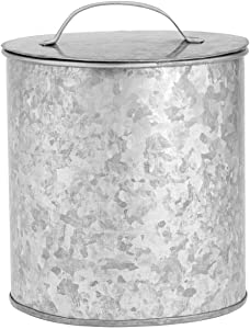 Amici Home Newport Storage Canister Metal Can, 102 Fluid Ounces, Galvanized
