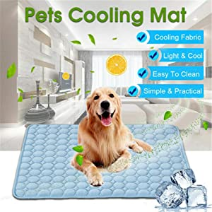 youeneom Dog Cooling Mat, Large Cooling Pad for Dogs & Cats, Pet Self Cooling Blanket for Floor, Kennels, Crates and Beds Indoor Or Outdoor, Non Toxic Ice Silk Mat (XL)