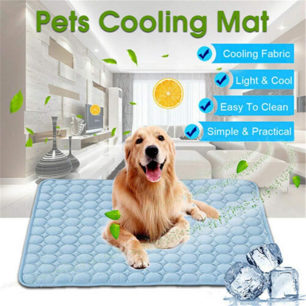 Amazon Com Rinkoua Pet Ice Silk Mat Dog Cooling Mat Pet Cat