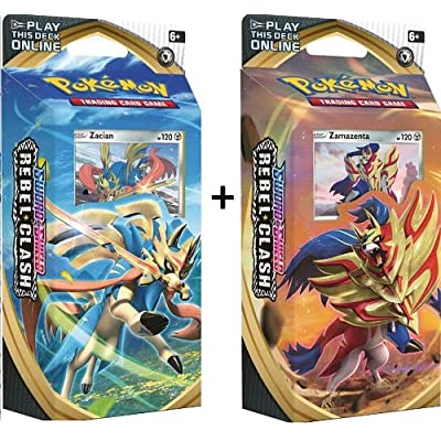 Pokemon Sword and Shield Rebel Clash Theme Decks Zacian & Zamazenta: Toys & Games