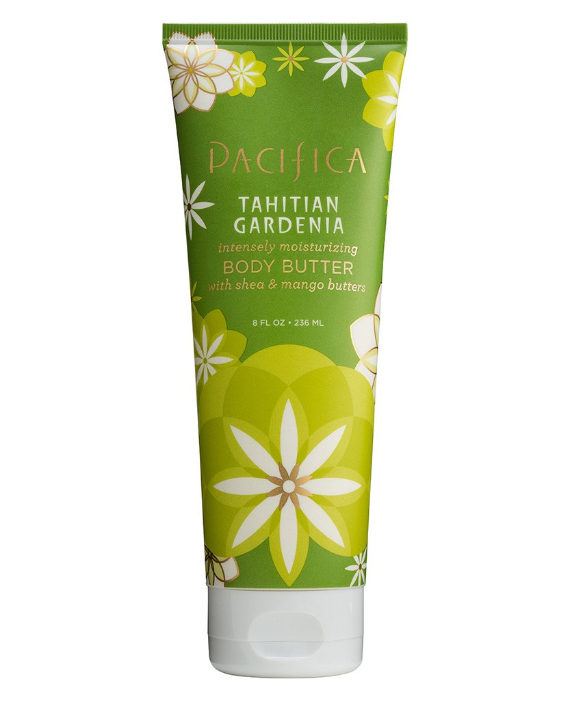 Pacifica Tahitian Gardenia Body Butter Pack of 2 with Shea Butter, Jojoba Seed Oil, Cocoa Butter, Flax Seed Oil, Kukui Nut Oil and Vitamin E, 100 Vegan and Cruelty-Free, 8 oz
